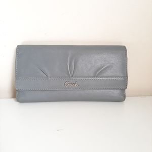 Coach Light Grey Long Wallets